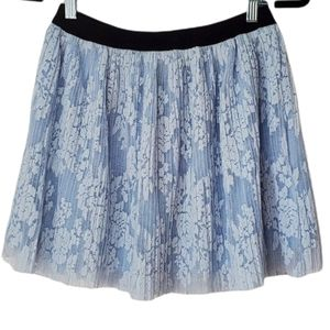 Forever 21 Blue Lace Circle Skirt
